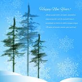 Winter landscape — Stock Vector