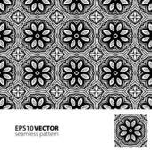 Black-white pattern_3 — Stock Vector