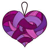 Purple heart — Stock Vector