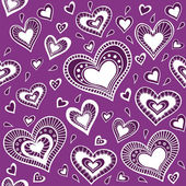Pattern_purple heart — Stock Vector