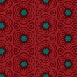 Terracotta pattern with flowers - 