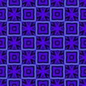 Modrý vzor s dlaždice — Stock vektor