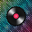 Music background with vinyl record — Stock Vector