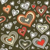 Militära mönster med hjärtan — Stockvektor