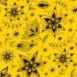 Yellow floral seamless pattern — Stock Vector
