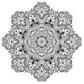 Ornamental round lace pattern is like mandala_1 — Stock Vector