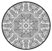 Ornamental round lace pattern like mandala — Stock Vector