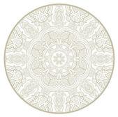 Ornamental round lace pattern like mandala_1 — Stock Vector