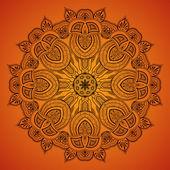 Pattern_1 rotondo ornamentale del pizzo — Vettoriale Stock