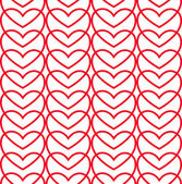 Seamless love pattern of hearts. — Vector de stock
