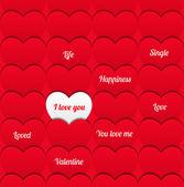 Любовь бесшовные узор с сердечками. — Cтоковый вектор