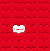 Seamless love pattern of hearts. — Stock Vector