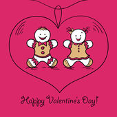 Card Happy Valentine's Day — Stock Vector