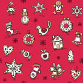 Christmas pattern of Gingerbreads — Stock Vector
