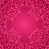 уголок-орнамент кружева кадр — Cтоковый вектор