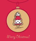 Christmas Ball mit Dekoration — Stockvektor