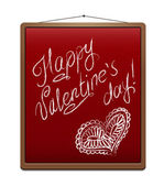 Red school chalk board in frame. — Stock Vector