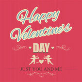 Typographical banner Happy Valentine's Day — Stock Vector