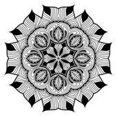 Decoratieve ronde kantpatroon is als mandala — Stockvector