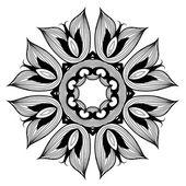 Ornamental round lace pattern is like mandala — Stock Vector