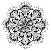 Ornamental round lace pattern is like mandala — Stock Vector