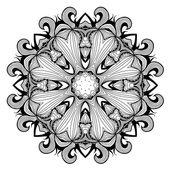 декоративные круглый кружевной узор, как мандалы — Cтоковый вектор