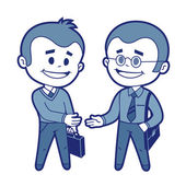 Meeting of two businessmen — Vector de stock
