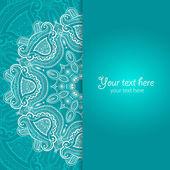 Invitation card with lace ornament — Stok Vektör