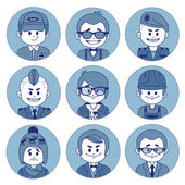 Set icons with characters. Different professions . — Stock Vector