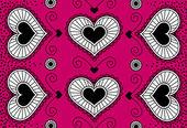 счастливый день святого валентина карты с кружевные сердца — Cтоковый вектор