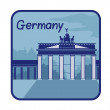 Illustration with Brandenburg Gate in Berlin — Stock Vector #48359089