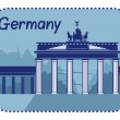 Illustration with Brandenburg Gate in Berlin — Stock Vector #48359559