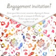 Engagement invitation card with watercolor flowers — Stock Vector #48359571