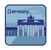 Illustration with Brandenburg Gate in Berlin — Stock Vector