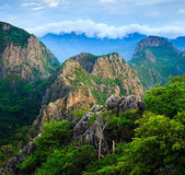 Mountain peak at sunrise, Khao Dang,Sam roi yod national park,Th — Stock Photo