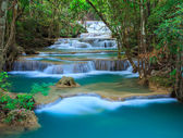 Deep forest Waterfall in Kanchanaburi, Thailand — Foto Stock