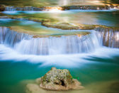Deep forest Waterfall in Kanchanaburi, Thailand — Stock Photo