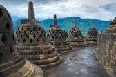 Budista de borobudur temple yogyakarta. java, indonesia — Foto de Stock