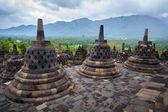 Borobudur boeddhistische tempel yogyakarta. java, indonesië — Stockfoto