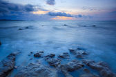 Seascape of pattaya beach at sunset, Chonburi, Thailand — Stock Photo