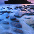 Seascape of Klong muang beach at sunset, Krabi, Southern of Thailand — Stock Photo