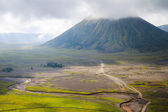 Path to Mount Bromo volcano, East Java, Surabuya, Indonesia — Stock Photo