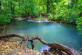 Deep forest Waterfall in Krabi, Southern of Thailand — Stock Photo