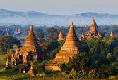 Panorama the  Temples of bagan at sunrise, Bagan, Myanmar  — Stockfoto