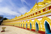 U min Thonze pagoda,Sagaing, Myanmar  — Stock Photo