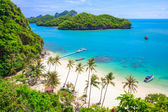 Bird eye view of Angthong national marine park, koh Samui, Thail — Stock Photo