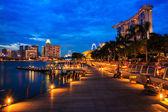 SINGAPORE-AUGUST 7 : Marina Bay Sands Resort Hotel on August 7, — Stock Photo