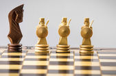 Chess figure isolated on the grey — Stock Photo