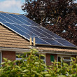 Photovoltaic Solar Panels on a Slate roof — Stock Photo #12196021