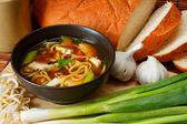 Rosół noodle — Zdjęcie stockowe